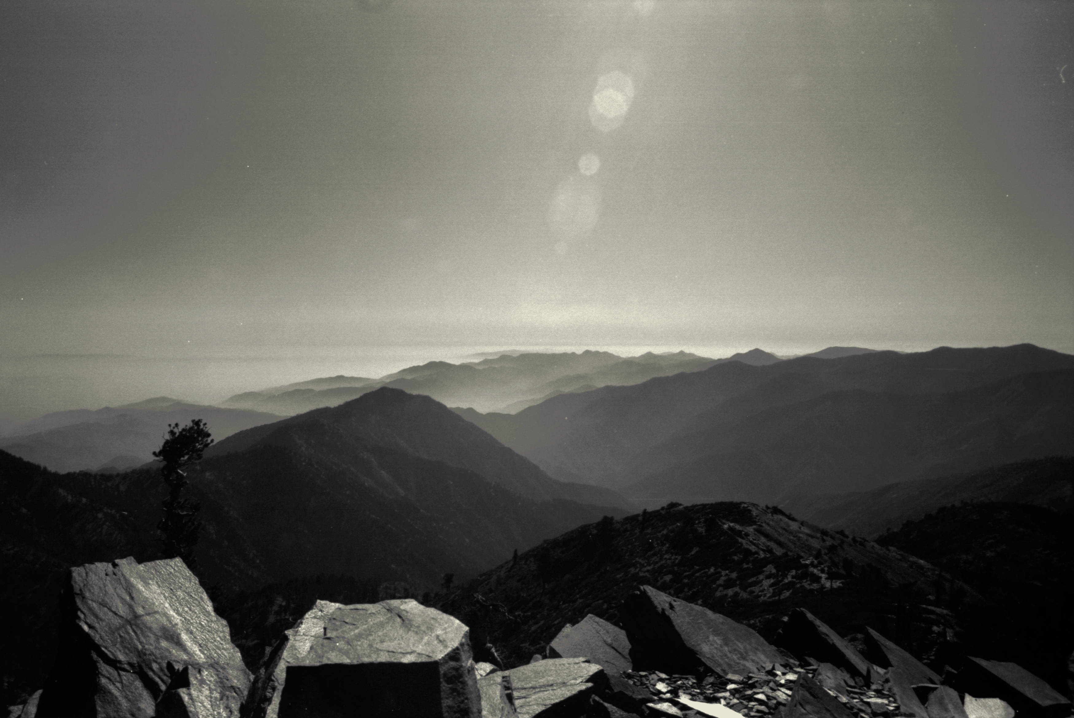 View to North from Pine Mountain, 2012, 35 mm B&W film.